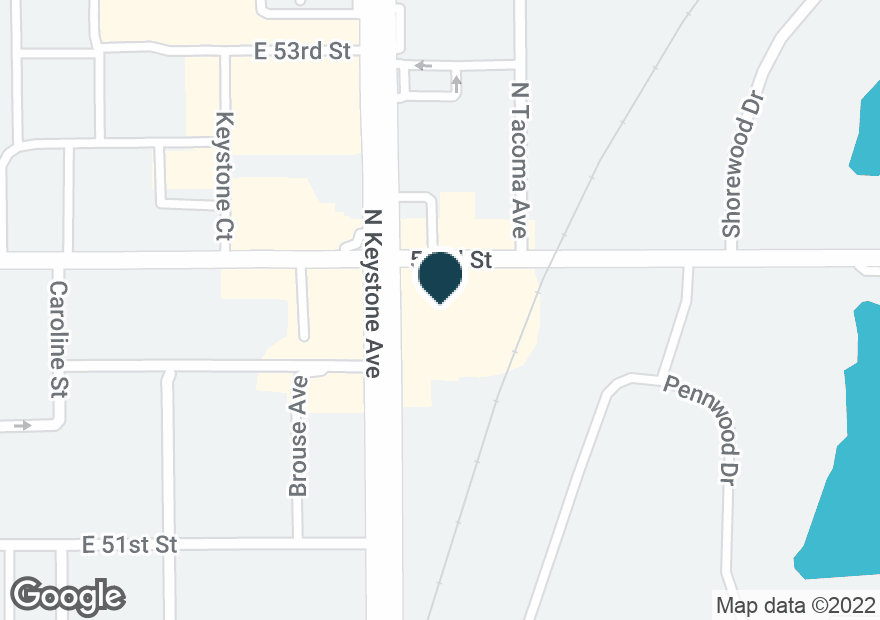 Google Map of5199 N KEYSTONE AVE