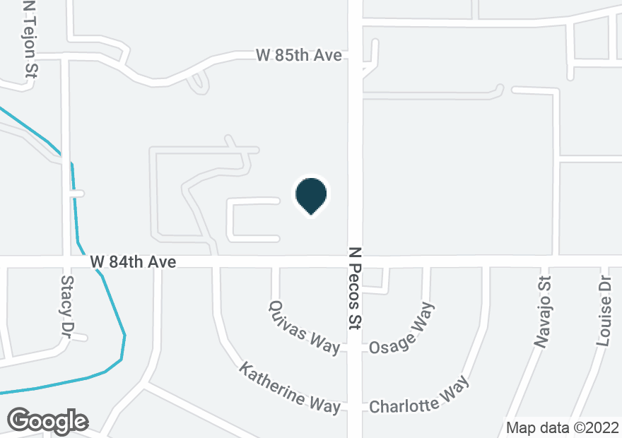 Google Map of1601 W 84TH AVE