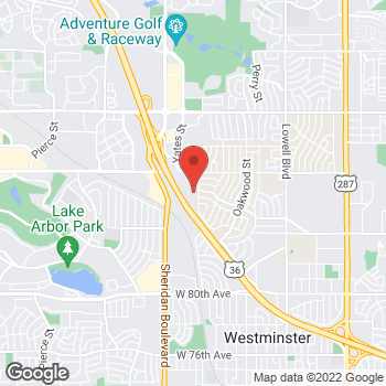 Map of BAYADA Home Health at 8670 Wolff Court, Westminster, CO 80031