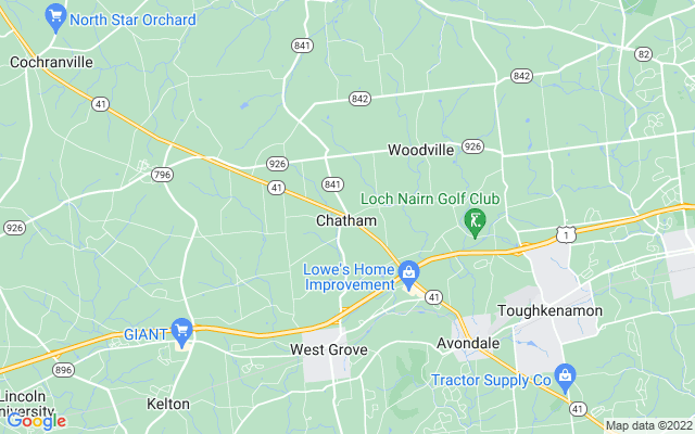 Chatham on the map