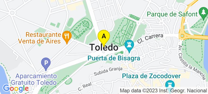 situacion en el mapa de . Direccion: Calle Marqués de Mendigorría nº 14, escalera B, planta 2ª, puerta 8, 45005 Toledo. Toledo