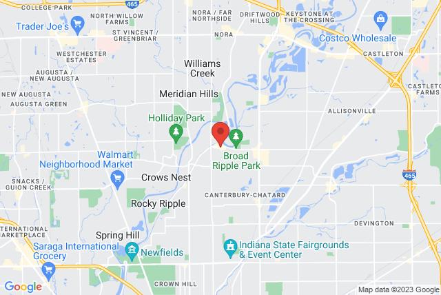 Pilates Indy Inc. Map