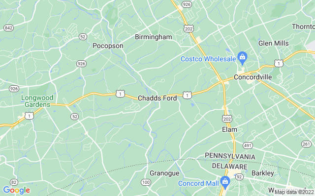 Chadds ford on the map