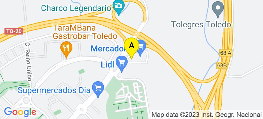 situacion en el mapa de . Direccion: Plaza de Grecia, 1, P.1, Of. 2.36, 45005 Toledo. Toledo
