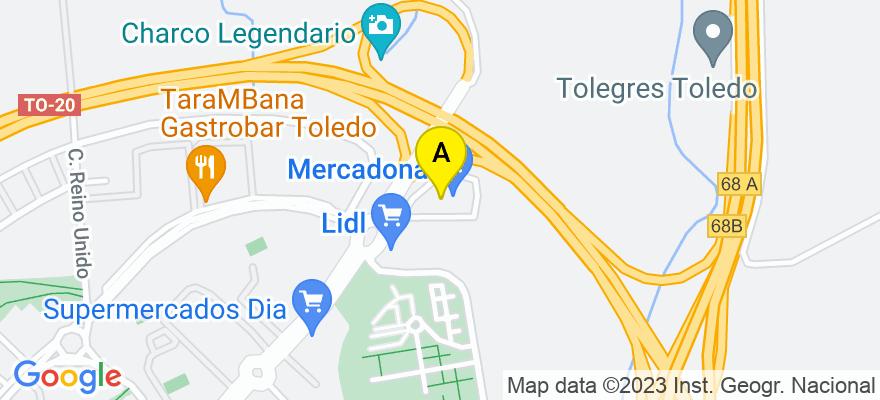 situacion en el mapa de . Direccion: Plaza de Grecia, 1 Portal 2 Oficina 15, 45005 Toledo. Toledo