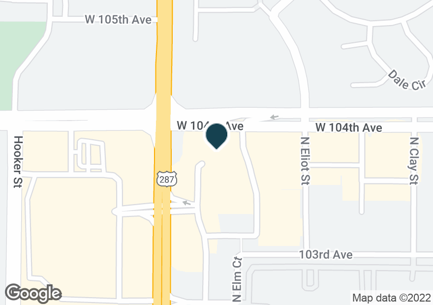 Google Map of10390 FEDERAL BLVD