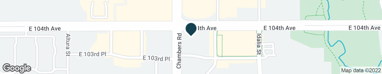 Google Map of15310 E 104TH AVE