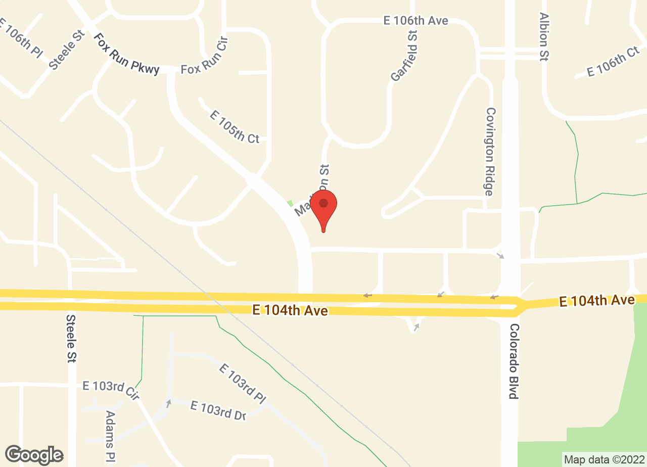 Google Map of VCA Thornton Animal Hospital