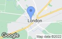 Map of London, OH