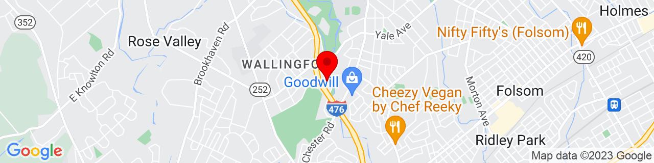 Google Map of 39.8910405, -75.3576061