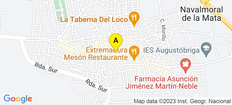 situacion en el mapa de . Direccion: calle Antonio Concha 6-1 A, 10300 Navalmoral de la Mata. Cáceres