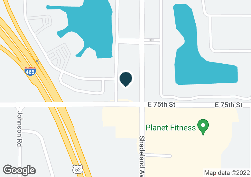 Google Map of7506 N SHADELAND AVE