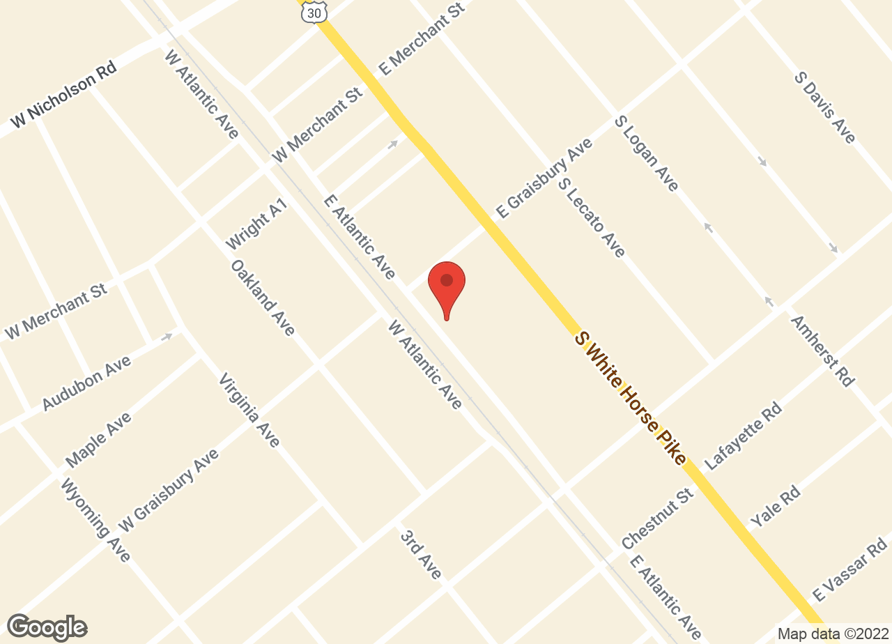 Google Map of VCA Audubon Animal Hospital