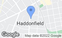 Map of Haddonfield, NJ