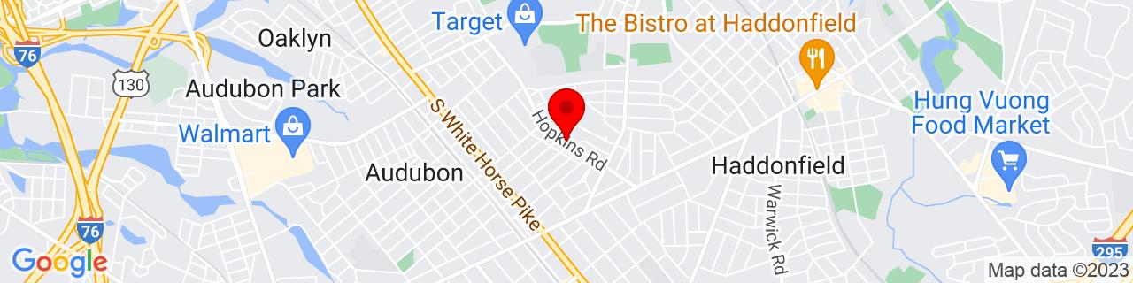Google Map of 39.8932727, -75.0582343