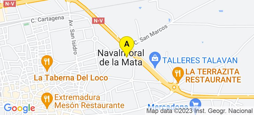 situacion en el mapa de . Direccion: C/ Urbano González Serrano, 35.- 1ºB, 10300 Navalmoral de la Mata. Cáceres
