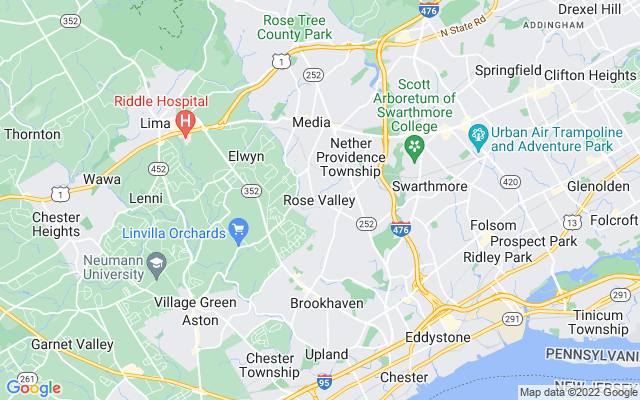 Rose valley on the map