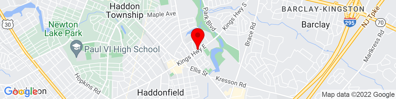 Google Map of 39.9006058, -75.0274214