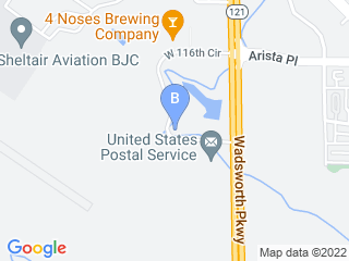 Map of Aspen Arbor Animal Hospital Dog Boarding options in Broomfield | Boarding