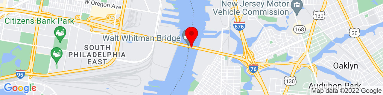 Google Map of 39.90499444444444, -75.12880277777776