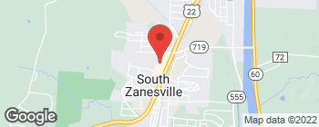 Map of 123 N Maysville Ave in Zanesville