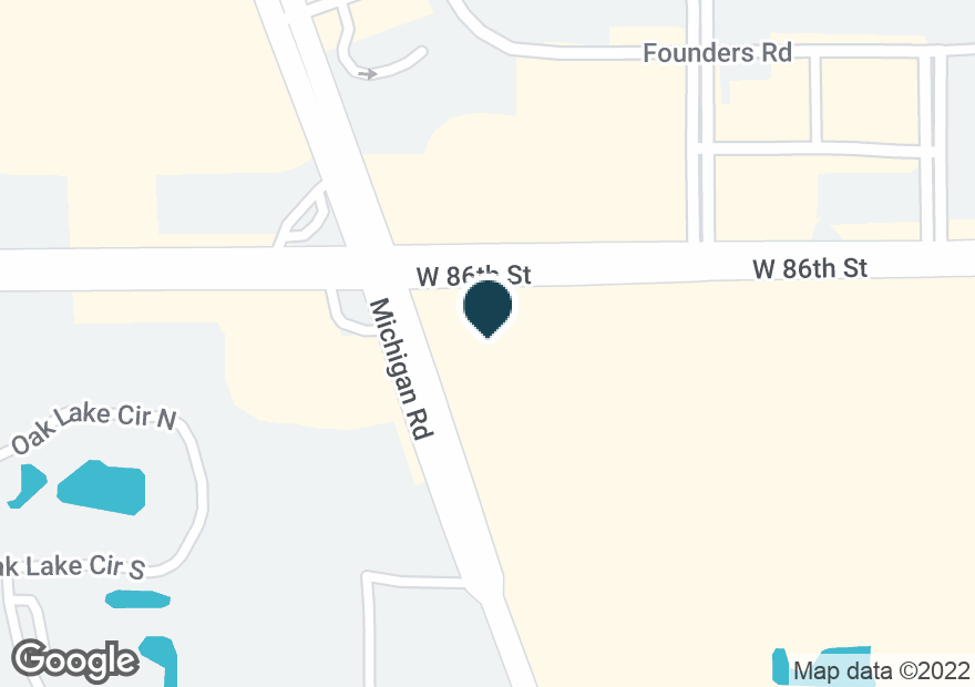 Google Map of3545 W 86TH ST