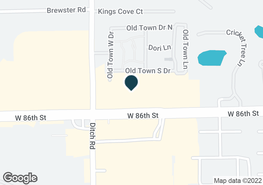 Google Map of1330 W 86TH ST