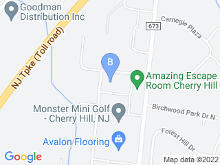 Map of Camp Bow Wow Dog Boarding Cherry Hill Dog Boarding options in Cherry Hill | Boarding