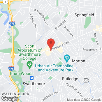 Map of Bertucci's Italian Restaurant at 965 Baltimore Pike, Springfield, PA 19064