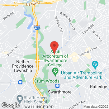 Map of Liberty Travel at 1250 Baltimore Pike, Springfield, PA 19064