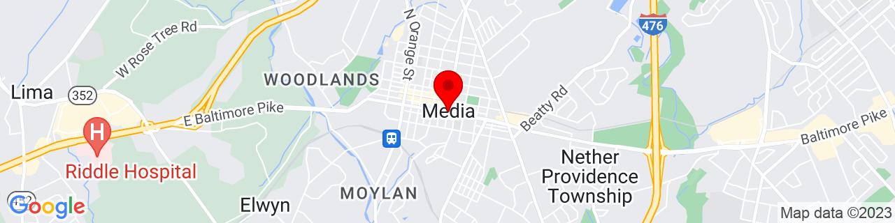 Google Map of 39.916666666666664, -75.38777777777779