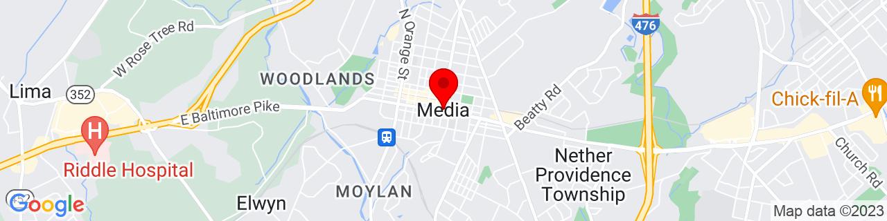 Google Map of 39.9167783, -75.387693