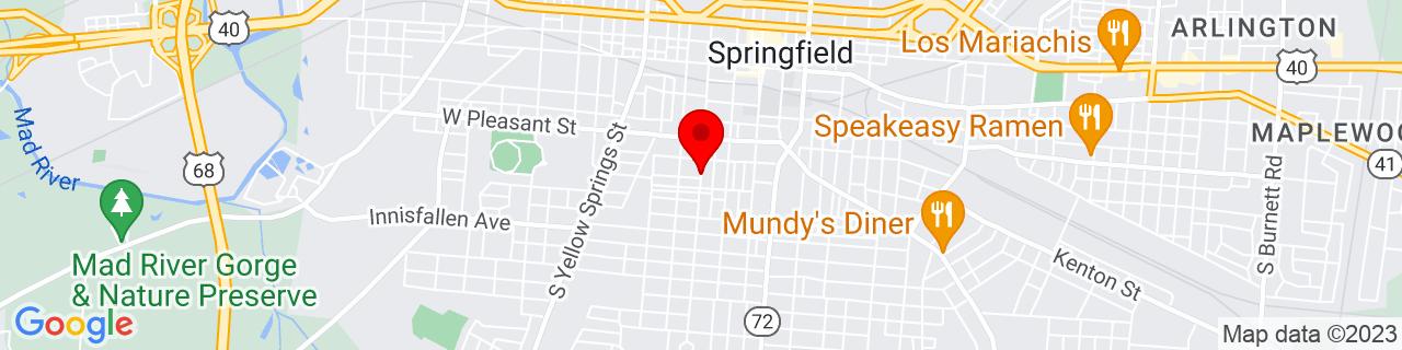 Google Map of 39.9168641, -83.81507789999999