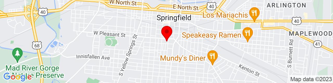 Google Map of 39.9181389, -83.81121100000001