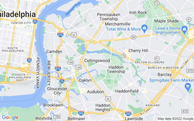 Collingswood on the map