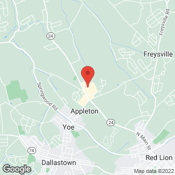 Map of Arby's at 3111 Cape Horn Rd, Red Lion, PA 17356