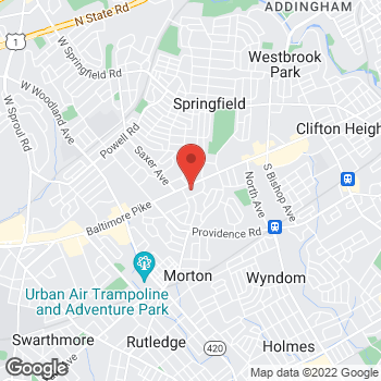 Map of Hair Cuttery at 479 Baltimore Pike, Springfield, PA 19064