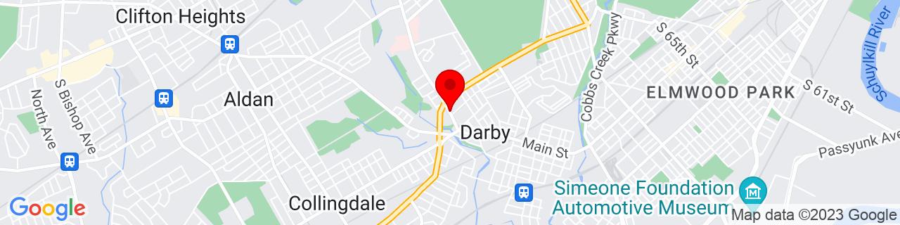 Google Map of 39.9203145, -75.26341219999999