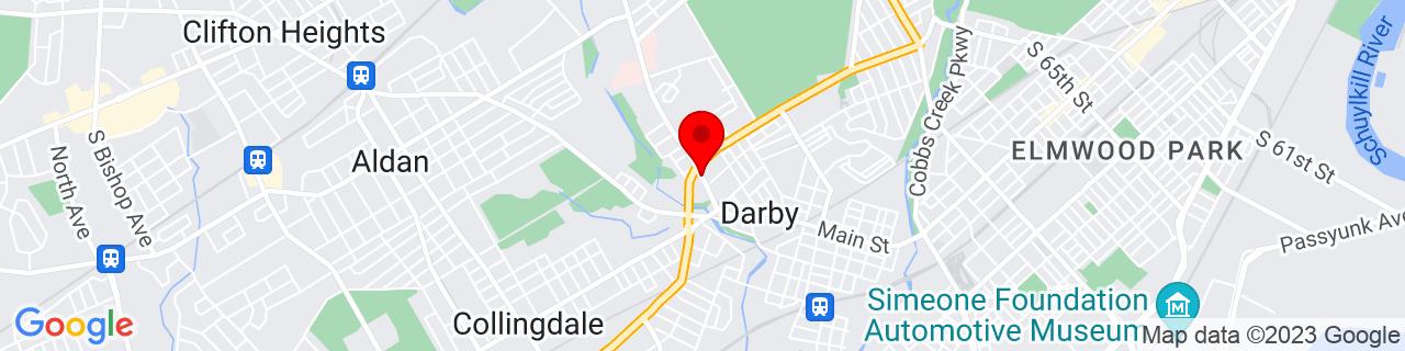 Google Map of 39.920615, -75.2636047