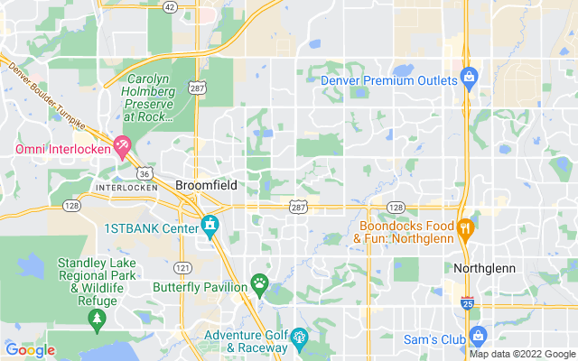 Broomfield on the map
