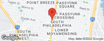 Map of 1415 W Passyunk Ave in Philadelphia