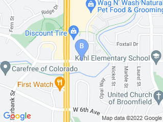 Map of Camp Bow Wow Dog Boarding Broomfield Dog Boarding options in Broomfield | Boarding