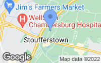 Map of Chambersburg, PA