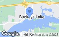 Map of Buckeye Lake, OH