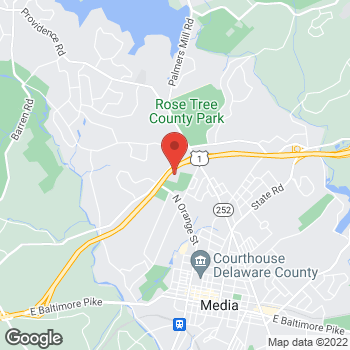Map of BAYADA Hospice at 1400 N. Providence Road, Media, PA 19063