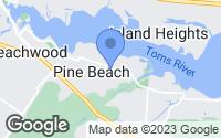 Map of Pine Beach, NJ