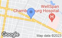 Map of Chambersburg, PA