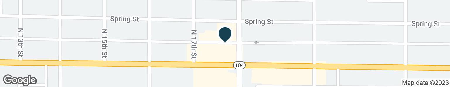 Google Map of1723 BROADWAY ST