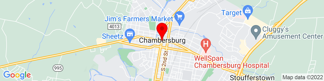 Google Map of 39.9375, -77.66111111111111