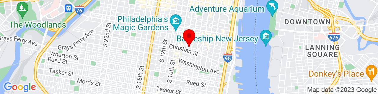Google Map of 39.9392349, -75.155383